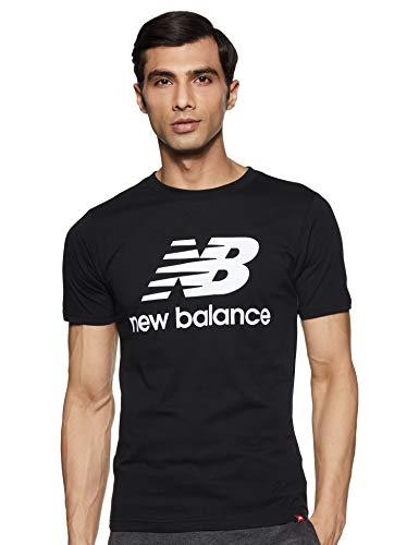 New Balance Essentials Stacked Logo T-Shirt, Negro, M Homme