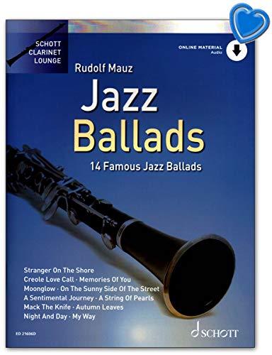 Jazz Ballads - 14 berühmte Jazz Balladen - Ausgabe mit Online-Audiodatei. Klaviersatz - ED21606D 9783795717339