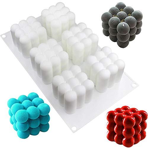 6 Mulden, 3D-Würfelform, leichte Gipsform, Silikon, quadratische Blasen, Dessert-Form, Küche, Backen, Kuchen, 1 Stück