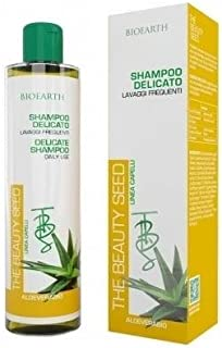 BIOEARTH - Champú Delicado - Nutritivo - Uso Diario - Ideal para Cabellos Secos frágiles y teñidos - 250 ml