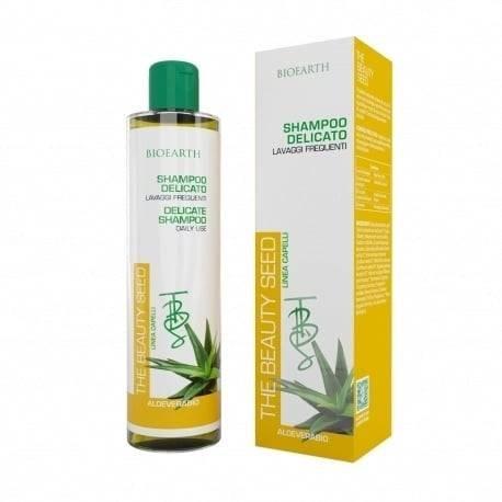 BIOEARTH - Shampoing Doux Usage Fréquent - Idéal pour les Cheveux Colorés - Nourrit et Renforce - Régénère le Cuir Chevelu Irrité - 250 ml