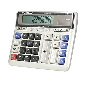 Aibecy Electrónico Calculadora Grande Computadora Mostrador Solar & Batería Poder 12 Dígitos Monitor Multifuncional Grande Botón para Negocio Oficina Colegio Calculador