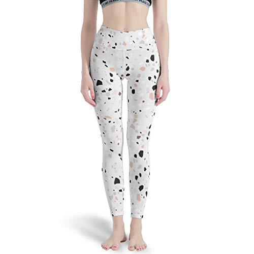 Terra-zzo - Pantalones de yoga (hipoalergénicos, varios colores), Mujer, Blanco, large