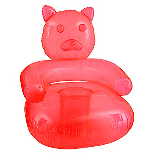 SNInc. Red Inflatable Gummy Bear Chair - Delicious Looking Blow Up Chair