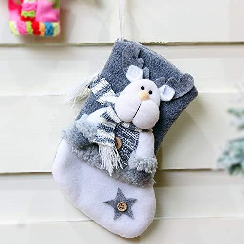 langchao Año Nuevo Decoraciones navideñas Franela Gruesa Calcetines navideños Calcetines navideños Bolsa de Regalo