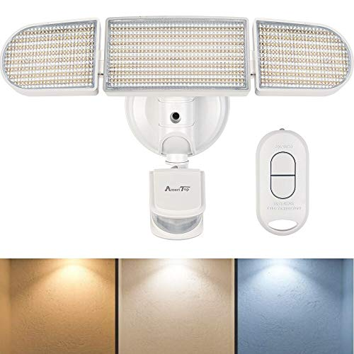 Motion Sensor Lights Outdoor, AmeriTop 35W Ultra Bright 3500LM 264LED Flood Light with Remote Control, 3 Color Temperatures 3000K/4500K/6000K, Wide Angle, IP65 Waterproof ETL Certified Security Light