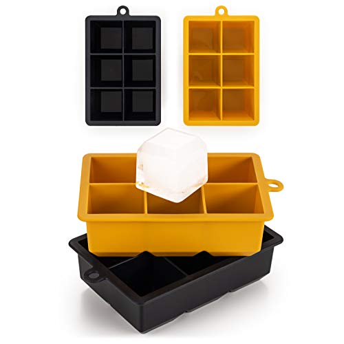 Blumtal Eiswürfelform Silikon XXL Würfel - 2x6er Pack, BPA frei, Leichtes Herauslösen der Eiswürfel, Silikon Form