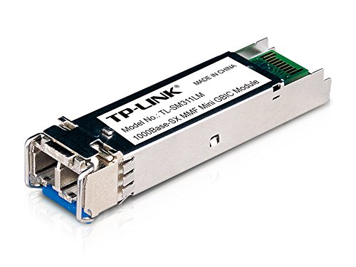TP-LINK Gigabit SFP module, 1000Base-SX Multi-mode Fiber Mini GBIC Module, Plug and Play, LC/UPC interface, Up to 550/220m distance (TL-SM311LM)