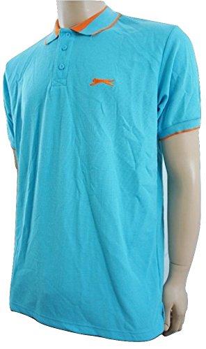 Slazenger - Polo - - Manches courtes Homme Turquoise Turquoise / Orange