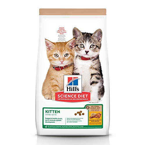Hill's Science Diet Kitten No Corn, Wheat or Soy Dry Cat Food, Chicken Recipe, 6 lb Bag
