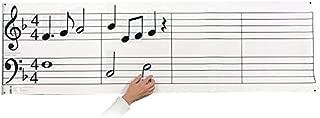 Dry Erase Music Staff Laminated Poster PLUS Hangable Music Note & Symbol Set