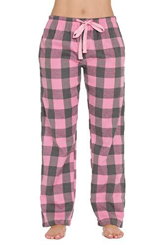 #followme Buffalo Flanell-Pyjamahose für Damen mit Taschen - Pink - Small