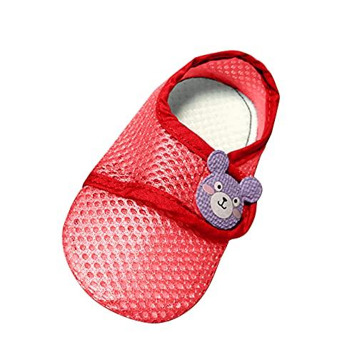 YWLINK Calcetines para El Piso del Bebé,Calcetines para NiñOs PequeñOs,Calcetines Antideslizantes De Dibujos Animados,Zapatos Y Calcetines para El Piso del Bebé,Malla Fina De Verano
