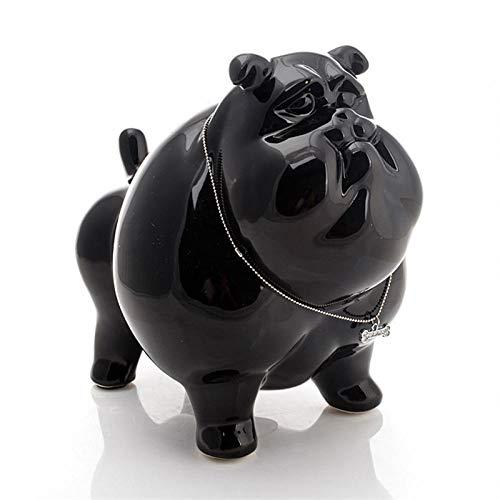 ZHSDTHFJY Exquisita Decoración,Escultura Decoración Estatuas Figuritas Ornamento del Arte De La Sala De Estar De La Caja De Dinero De La Estatua del Dogo De Cerámica