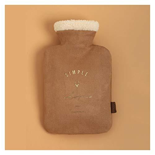 Botella de agua caliente Clásica botella de goma de agua caliente con el bolso de punto cubierta durable del agua caliente reutilizable portátil bolsa de agua caliente llena de agua caliente Para cale