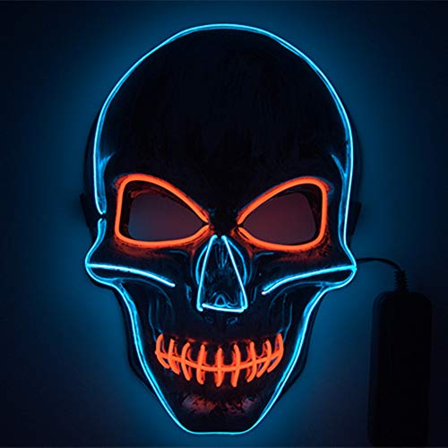 Shirylzee Maschera LED Halloween, Halloween Purge Mask...