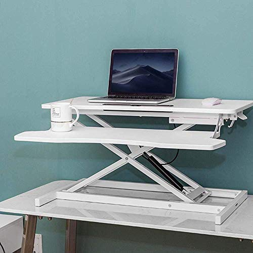 tanding desk frame,Portable Side Table Bed Sofa Hospital Reading Eating, Mobile Height-Adjustable Sit to Stand Office Desk ,Standing computer lifting table, notebook desk, movable