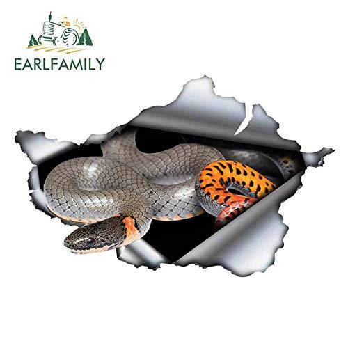 A/X 13 cm 8,3 cm para lágrimas de Metal Serpiente Divertidas Pegatinas de Coche DIY calcomanía reparación de impresión Personalizada Adecuada para decoración de RV