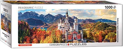EuroGraphics 5444 Neuschwanstein Castle Bavaria Germany Panoramic Puzzle (1000 Piece)