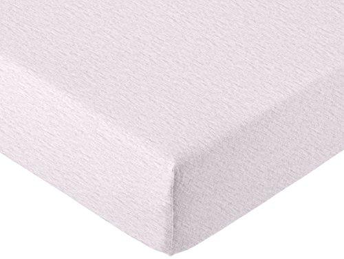 AmazonBasics - Spannbettlaken, melierter Jersey-Stoff 140g/m², Hellgrau - 180 x 200 x 30 cm