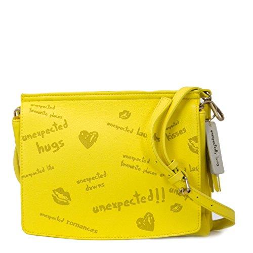 Bolso Desigual amarillo al hombro para mujer
