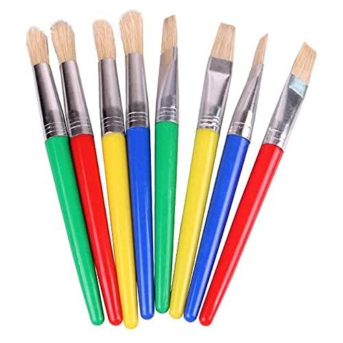 Color de Caramelo Pincel de plástico Pincel Cepillo de Pelo Niños Pintura al óleo Acuarela Graffiti Escuela Oficina Suministros