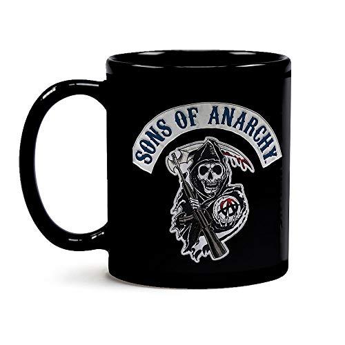 Caneca Black Sons Of Anarchy Logo