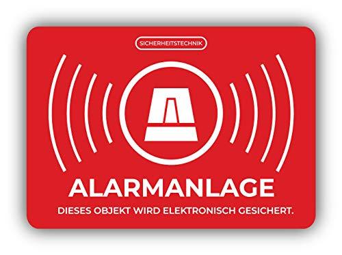 Alarm Systeem Bumper Sticker Vinyl Art Decal voor Auto Truck Van Wandraam (24 X 16 cm)