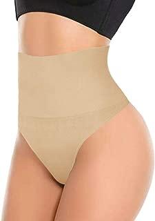 103 Thong - Womens Basic Every-Day High-Waist Shapewear Trainer Tummy Control Thong Panty Underwear