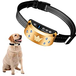 HVRSTVILL Anti Barking Dog Collar, Stop Barking Device for Small Medium Large Dog, NO SHOCK Safely and Humane with Sound & Vibration, Rechargeable No Bark Dog Training Collar, Adjustable Belt 7-55kg