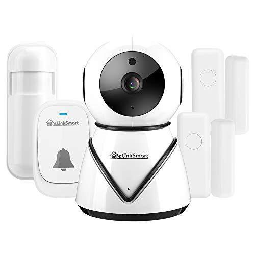 zcyg Cámara Cámara de vigilancia Cámara de Seguridad Kit De Seguridad para El Hogar, 1080p HD WiFi Cámara Magnética Puerta Bell Pir Intelligent Home Security Kit para Onvif (EE. UU.)