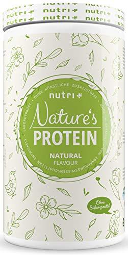 EIWEIßPULVER Neutral ohne Süßstoff 500g - 84,8% Eiweiß - Nutri-Plus Proteinpulver laktosefrei - als Shake oder zum Backen - Natures Protein Pulver - glutenfrei - vegan