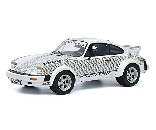 Schuco 450025100 Porsche 450025100-Porsche Röhrl x 911, Modellauto, Resin, 1:18, weiß