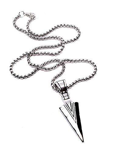 Eclectic Shop Uk Odins Spear Pendant Viking Gungnir Odin Norse Necklace Quality Steel Chain