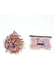 Mini bandas de goma de 500 piezas, banda elástica suave y colorida para el cabello, gomas pelo bebe, banda para el cabello y linda bolsa dealmacenamiento, adecuada para trenzas de niños (multicolor)