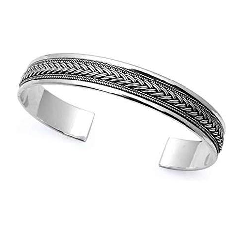TreasureBay Armreif offen, aus massivem 925er Sterling-Silber
