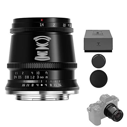 TTArtisan 17 mm F1.4 APS-C Objektiv mit manuellem Fokus, kompatibel mit FX-Mount-Kameras X-T2 X-T3 X-T4 X-T10 X-T20 X-T30 X-T100 X-T200 X-PRO1 X-PRO2 X-PRO3 X-E1 X-E2 X-E2S X-E3 XS10