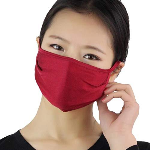 7Lucky Adult Bandanas Wiederverwendbare waschbare Bequem mit elastischem Mundschutz für Aktivitäten im Freien (Rot)