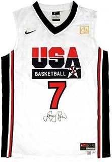 Larry Bird Signed Official NBA White USA Nike Basketball Jersey