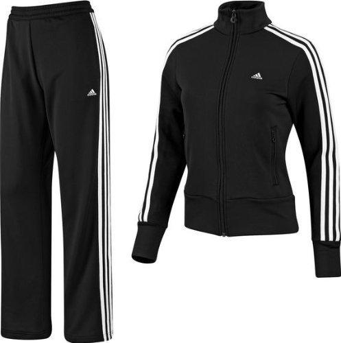 adidas Damen Trainingsanzug Essentials, black/white, 38, E14706-38