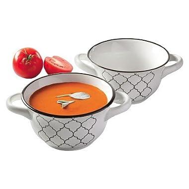 Crock Pot Mathison 2 pc.Round Soup Bowl Set White