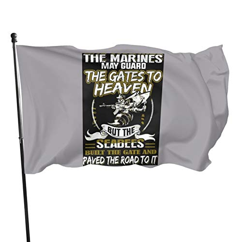 N/F Navy Seabee The Mari May Guard The Gate Heaven Flag Banner Flags Banners