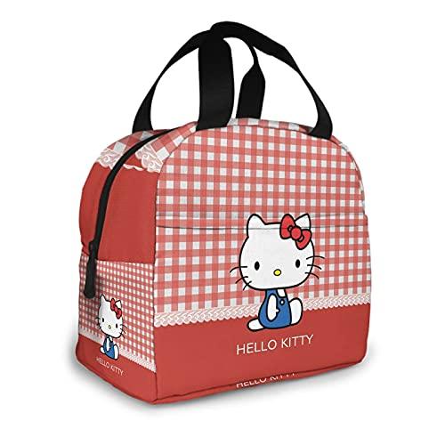 Hello Kitty - Bolsa térmica para el almuerzo con aislamiento suave para el trabajo o el viaje