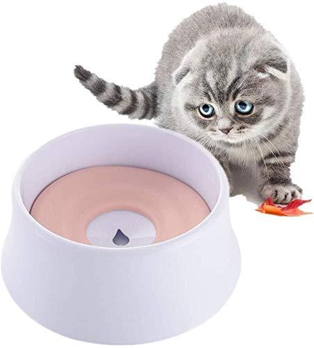Non Spill Hund Wasser Bowl Cat Wasser-Schüssel Futterschalen for Hunde Rosa Hundenapf Shallow Cat Bowl nicht Beleg Cat Bowl Kunststoff Hundeschüsseln Welpen Schüsseln grün Jialele ( Color : Pink )