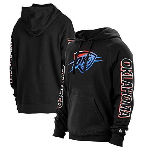 Suéter de Camiseta de Baloncesto para Hombre, Deportes Ocasionales Letter de la Juventud Sudadera con Capucha y otoño,L