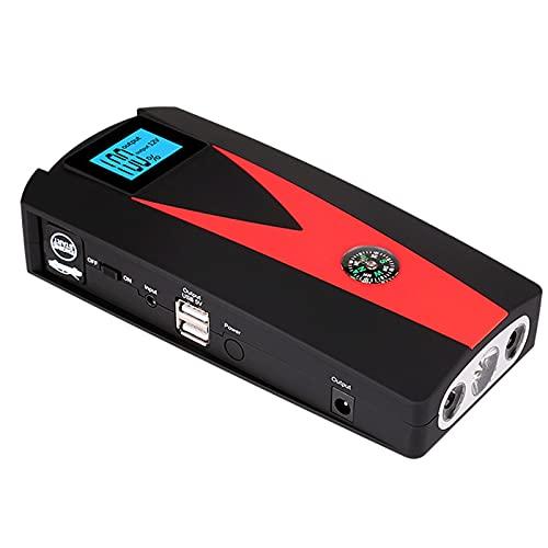 FEI JI Multifunción Arrancador De Coche, 800a 99900mah Arrancador De Baterias De Coche (hasta 4.5l Gas O 3.5l Diesel), con USB Puerto De Carga Rápida, Led Linterna, Brújula