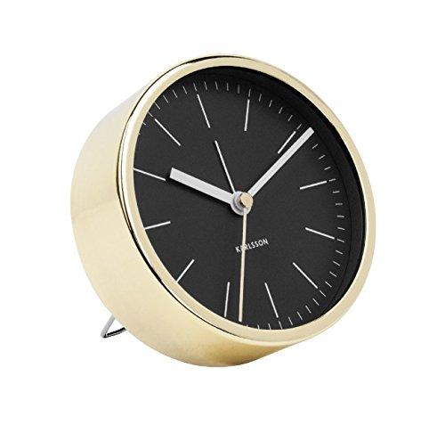 Karlsson Minimal Uhr, Tischuhr, Stahl, Schwarz, One Size
