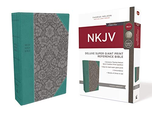 Compare Textbook Prices for NKJV, Deluxe Reference Bible, Super Giant Print, Leathersoft, Green, Red Letter, Comfort Print: Holy Bible, New King James Version Large type / Large print Edition ISBN 9780785218050 by Thomas Nelson