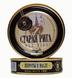 geräucherte Sprotten in Öl Old Riga 5er Pack (5 x 160 g)