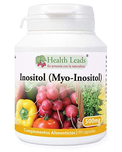 Inositol (Myo-Inositol) 90 capsulas, También llamado Vitamina B8, Alta absorción, VEGANO, Sin Estearato de magnesio o aditivos desagradables, NO OMG, Fabricado en Gales